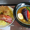 ひろのスープカレー - 料理写真:グリルドチキンカレー(1100円)+厚切りベーコン(350円)