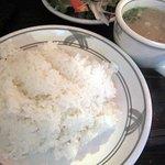 小さな厨房 - ライスとお味噌汁