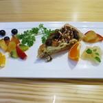 たまな食堂 ナチュラル シフト ガーデン キッチン - フルーツ・ナッツ季節のタルト