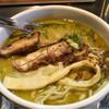 麺屋 桔梗 - 料理写真:グリーンカレーラーメン。