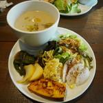 ねき - 料理写真:茄子と豆乳のごまスープ玄米ランチ