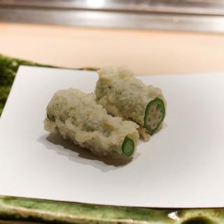 てんぷら 成生 - 料理写真:オクラ