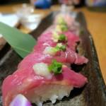 個室居酒屋 東京燻製劇場 - 燻製塩と醤油で食べる肉寿司¥1280