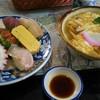 大和路 - 料理写真:握り寿司と玉子うどん