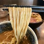 72493422 - 「チャーシュー極濃煮干しつけ麺」(1030円)