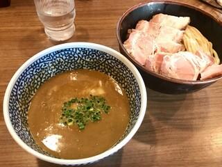煮干しつけ麺 宮元 - 「チャーシュー極濃煮干しつけ麺」(1030円)