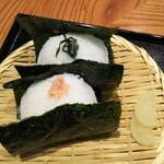 Ohitsuzentambo - [にぎりたて]『しゃけ』と『野沢菜』