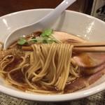 がふうあん - 我風ブラック(780円)麺リフト
