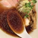 がふうあん - 我風ブラック(780円)スープ