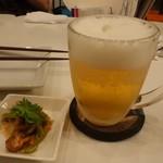 パクチーファン - 生ビール500円(税抜)