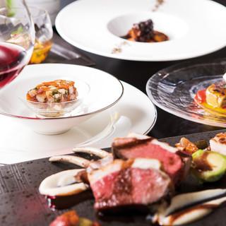 北海道の食材やジビエをメインにしたフランス料理ディナーコース