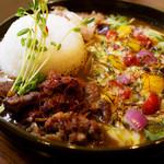 ジパングカリーカフェ 和風カレー ヒゲ ボウズ - トロスジ焼きベジチーズ