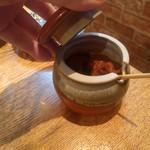 炭火ホルモン焼き 夏冬 - 辛味噌