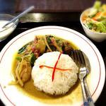 Ros Siam Yabashira - 鶏肉入りグリーンカレーかけご飯