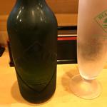 大阪麺哲 - 瓶ビール・ハートランド(600円)