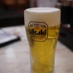 餃子の王将 - 生ビール~☆