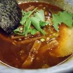 麺屋永吉 花鳥風月 - つけスープ接写。