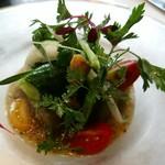 72508546 - 冷たい茄子のブレーゼ たっぷり野菜のガスパチョ ラブランシュ風