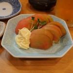 地鶏屋 - 冷やしトマト