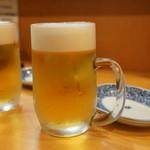 地鶏屋 - ビール