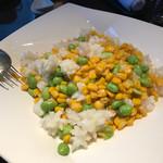 四川 - アオリイカとスイートコーン、枝豆の塩味炒め