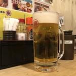 恵美須商店 - 生ビール、290円です。
