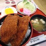 敦賀ヨーロッパ軒 - 料理写真:カツ丼セット(単品800円+セット200円)