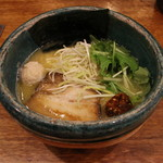 逢縁喜縁 - らぁめん(鶏白湯)(720円、斜め上から)