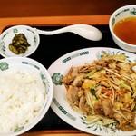 日高屋 読売ランド前駅南口店 - 肉野菜炒め定食