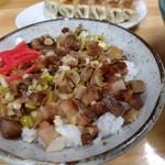 ラーメン ふじ屋 - 【2017.9.3(日)】ラーメンCセットのねぎ豚丼