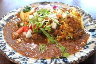 ガネーシュ m 北浜店 - ラム肉のカレー1000円