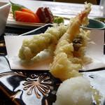 あんざ - ◆天ぷら・・天つゆで頂きます。