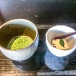 よし味 - 小豆と豆乳のムース、抹茶