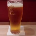 日本酒とおばんざい 北庵 - 生ビール