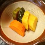自然薯 茶茶 - 香の物(手作り感あって美味しかった♪)