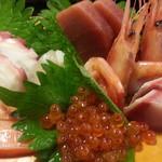 大庄水産 - 刺身定食税込980円の刺身アップ