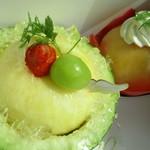 おかしの千秋庵 - 料理写真:メロンと桃
