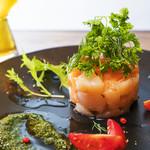 Inazuma Dining - 魚介のコンフィ タルタル風バジルソース