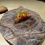 TTOAHISU - イサキのお料理、焼きナス添え。