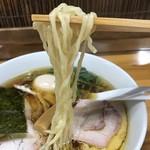 とら食堂 - 【2017.8.8】手打ちの平打ち中細麺。