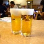 佰圓屋 いし河 - グラスビール 100円