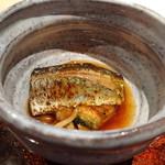 菊鮨 - ◆秋刀魚・焼きナス・なめこ お醤油風味もよく最初に頂くにはいい品。