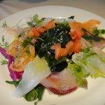 7255134 - 前菜、本日の鮮魚のカルパッチョ。