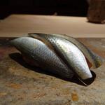 菊鮨 - ◆コハダ(天草)・・3枚重ねで出されました。酢でしっかり〆た印象。