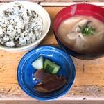 高森田楽村 - 高菜飯とだご汁