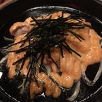 hen鶏 ながら - 「阿波尾鶏のタラマヨ鉄板焼き」