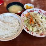 レストラン 倉井 - 野菜イタメ定食500円