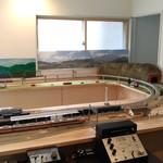 森のマミー - 森のマミーの奥にある鉄道模型①