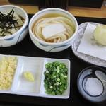 丸まさ - [うどん食べくらべセット」&「半熟卵の天ぷら」
