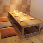 88屋 - 掘りごたつの完全個室でゆったりとお食事して頂けます。